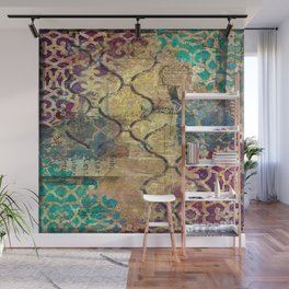 Morocco mixed media, travel, explore, journey Wall Mural