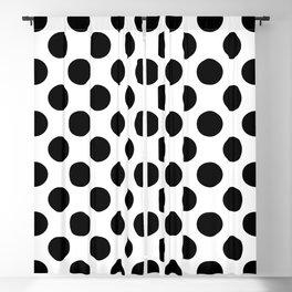 Geometric Pattern 136 (Polka black) Blackout Curtain