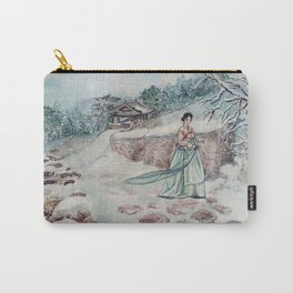 Korean Winter (Watercolor painting) Carry-All Pouch