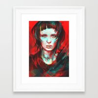 girl Framed Art Prints featuring Wasp by Alice X. Zhang