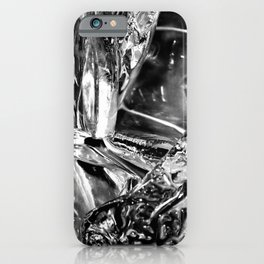 Black White Ice Abstract iPhone Case