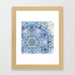 Blue Flake Framed Art Print