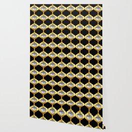 Alhambra Glam Quatrefoil Pattern Wallpaper