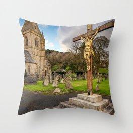 Pantasaph Church Crucifixion Throw Pillow