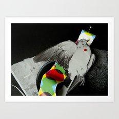 Dead dove Art Print