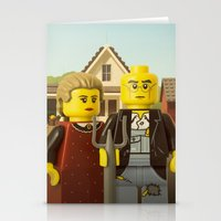 gothic Stationery Cards featuring American Gothic by powerpig