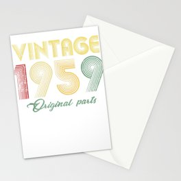 Vintage 1959 T-Shirt Retro 60th Birthday Gift Shirt Stationery Cards