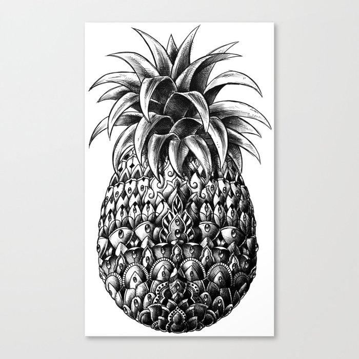 Ornate Pineapple Canvas Print