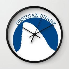 obsidian shark Wall Clock