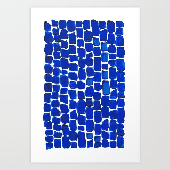 Brick Stroke Blue Kunstdrucke