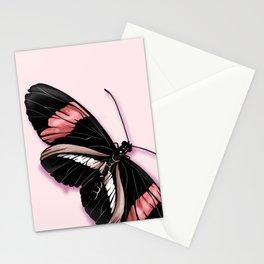 Papillon rouge et noir Stationery Cards