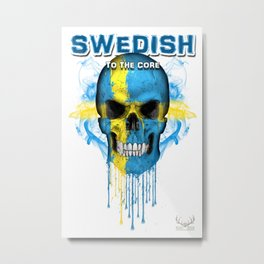 To The Core Collection: Sweden Metal Print