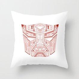 Autobot Tech Red Throw Pillow