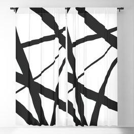 Broken Star Geometric Abstract Blackout Curtain