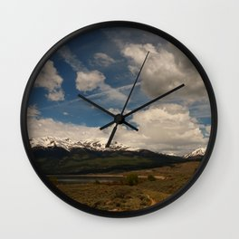 Dramatic Sky Over Twin Lakes Colorado Wall Clock