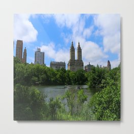 San Remo Towers And The Lake Metal Print