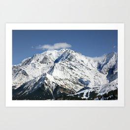 Mt. Blanc with clouds Art Print