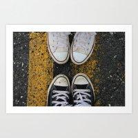 Converse & Concrete Art Print
