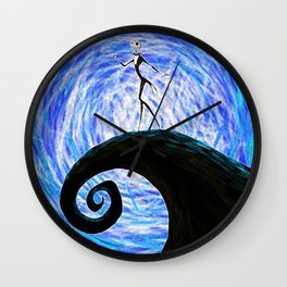 jack skellingtoon starry night Wall Clock