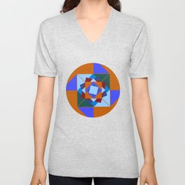 wind rose orange #homedecor #midcentury Unisex V-Neck