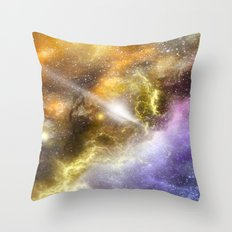 Space colours Throw Pillow