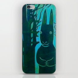 Rabbit in the Woods iPhone Skin