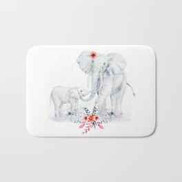 Mother's Day (Mother and Baby Elephants) Bath Mat