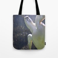 turtles Tote Bags featuring Turtles by Irene Jaramillo