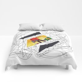 Collage multicolor 2261 Comforters