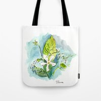 jasmine Tote Bags featuring Jasmine by Elena Sandovici