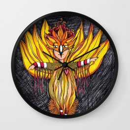 Quirky Pheonix Wall Clock