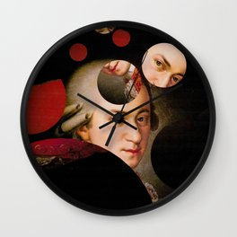 The Decomposed Composer Mozart Wall Clock
