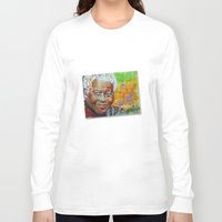 mandela Long Sleeve T-shirts featuring nelson mandela by yossikotler