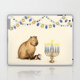 Capy Hanukkah - Capybara and Menorah Laptop & iPad Skin