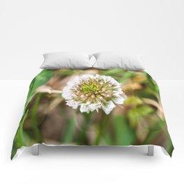 White Clover Flower (Macro) Comforters