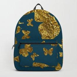Butterfly kaleidoscope gold Backpack