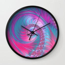 Cotton Candy Swirls Wall Clock