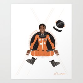 Mae Jemison: First Black Woman in Space Art Print