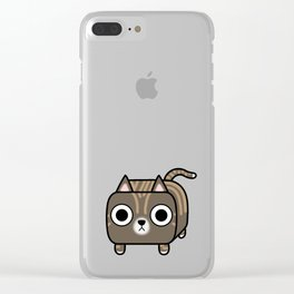 Cat Loaf - Brown Tabby Kitty Clear iPhone Case