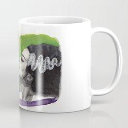 Watercolor Painting of Frankenstein & Bride Coffee Mug