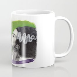 Watercolor Painting of Frankenstein & Bride Coffee Mug