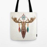 moose Tote Bags featuring moose by Manoou
