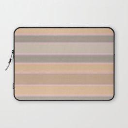 Beige, brown, grey stripes Laptop Sleeve