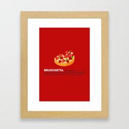 Bruschetta su Rosso Framed Art Print