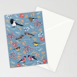 Wintering Birds. Stationery Cards