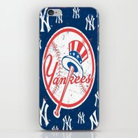yankees iPhone & iPod Skins featuring NY YANKEES by I Love Decor