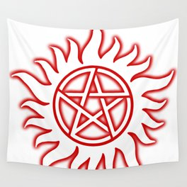 Anti Possession Sigil Red Glow Transp Wall Tapestry