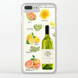 WHITE WINES - Flavors in Sauvignon Blanc Clear iPhone Case
