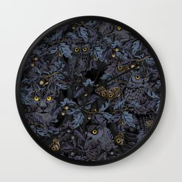 Fit In (moonlit blue) Wall Clock