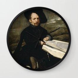 Diego Velázquez - The Jester Don Diego de Acedo - El bufón don Diego de Acedo, el Primo Wall Clock